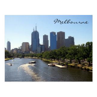 melbourne distant skyline postcard