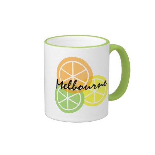 Melbourne FL Citrus OrangeLimeLemon Coffee Mug