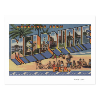 Melbourne Florida - Large Letter Scenes Postcard