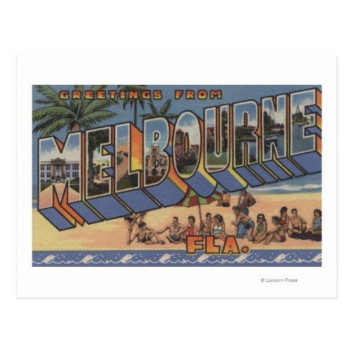Melbourne, Florida - Large Letter Scenes Postcard