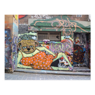 Melbourne Graffiti Urban Art Postcard Hosier Lane
