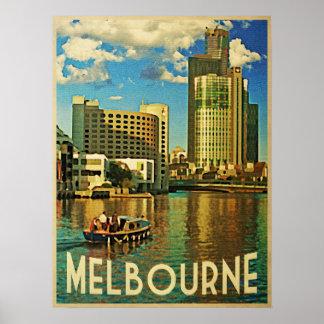 Melbourne Skyline Australia Poster