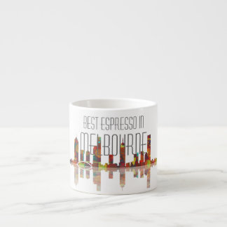 Melbourne Skyline Espresso Mug 6 Oz Ceramic Espresso Cup