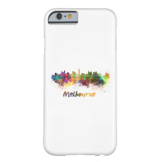 Melbourne skyline in watercolor barely there iPhone 6 case