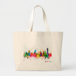 Melbourne Skyline Canvas Bags