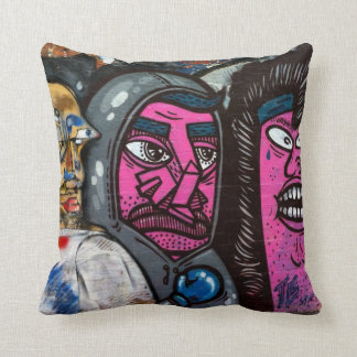 Melbourne street art / grafitti throw pillow