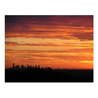 Melbourne Sunset Postcard