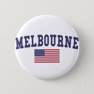 Melbourne US Flag 6 Cm Round Badge