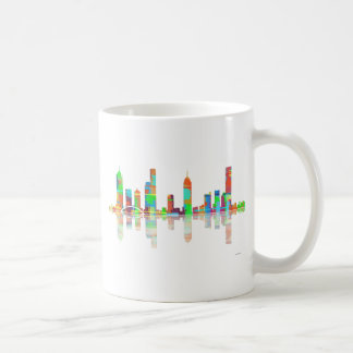 Melbourne Vic Skyline Basic White Mug