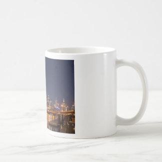 Melbourne' Yarra River at night Coffee Mug