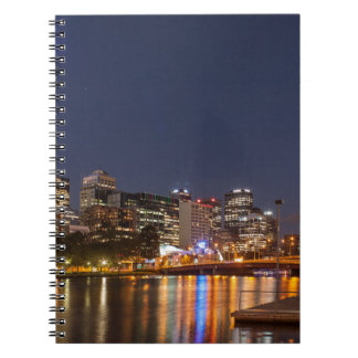 Melbourne' Yarra River at night Notebook