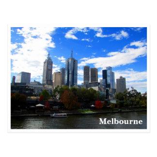 melbourne yarra skyline postcard