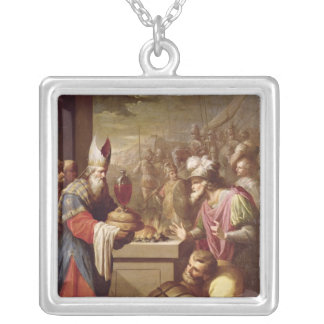 Melchizedek Offering Bread and Wine Custom Necklace