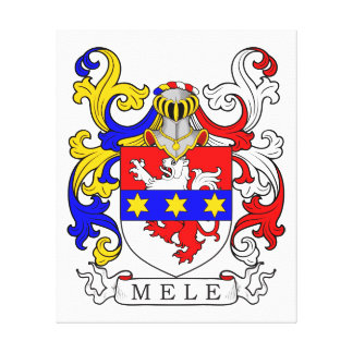 Mele Coat of Arms (Italian) Stretched Canvas Print