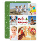 Mele Kalikimaka Brush Christmas Photo Collage Card