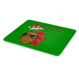 Mele Kalikimaka Christmas Pineapple Cutting Board