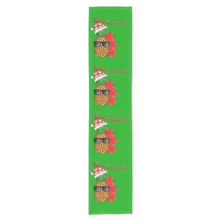 Mele Kalikimaka Christmas Pineapple Short Table Runner