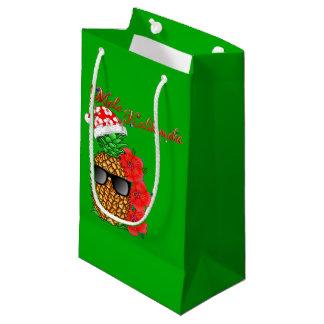 Mele Kalikimaka Christmas Pineapple Small Gift Bag