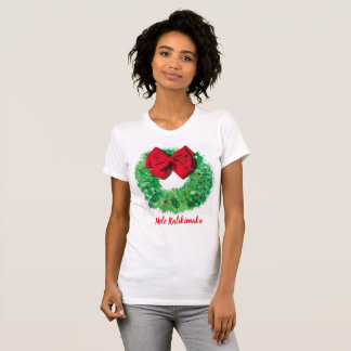 Mele Kalikimaka Christmas Wreath T-Shirt