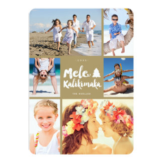 Mele Kalikimaka Fun Christmas Photo Collage Card 13 Cm X 18 Cm Invitation Card