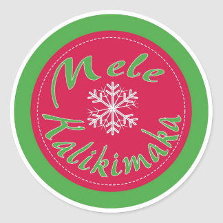 Mele Kalikimaka Hawaii Merry Christmas stickers