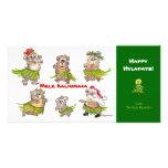 Mele Kalikimaka Hula Hamsters Christmas Card Personalized Photo Card