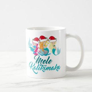 Mele Kalikimaka Mermaid Christmas Cute Hawaiian Coffee Mug
