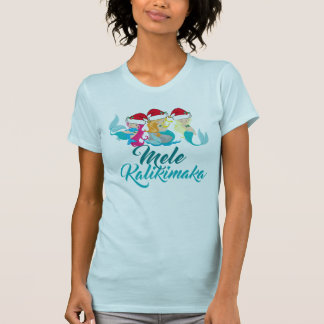 Mele Kalikimaka Mermaid Christmas Cute Hawaiian T-Shirt