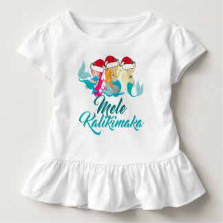 Mele Kalikimaka Mermaid Christmas Cute Hawaiian Toddler T-Shirt