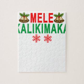 MELE KALIKIMAKA Merry Christmas and Happy New Year Jigsaw Puzzle