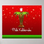 Mele Kalikimaka Palm Tree for Xmas Poster