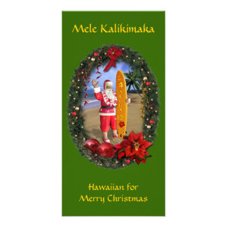 Mele Kalikimaka Photo Card Template
