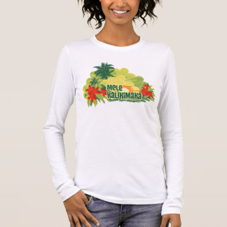 Mele Kalikimaka Tropical Island Hawaiian Christmas Long Sleeve T-Shirt