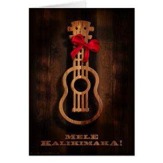 Mele Kalikimaka Ukulele Christmas Card