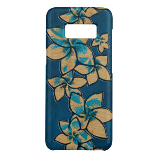 Melia Hawaiian Plumeria Teal Faux Wood Case-Mate Samsung Galaxy S8 Case