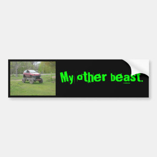 melindcar, My other beast. Bumper Sticker