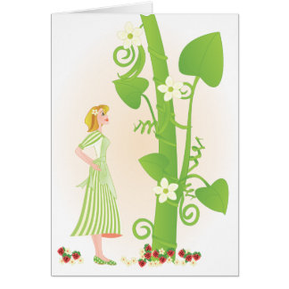 Melissa in the Beanstalk Card