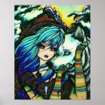 Melissa Vampire Wolf Fantasy Winter Art Poster