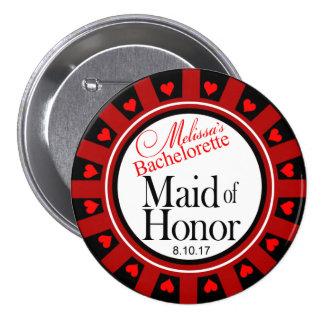 Melissa's Maid of Honour Bachelorette button