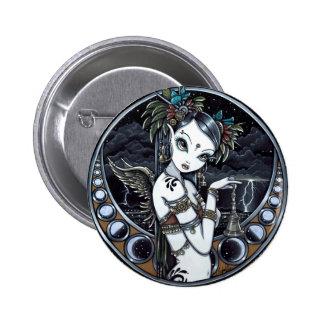 Melita Goth Tribal Fusion Dancer Pinback Button
