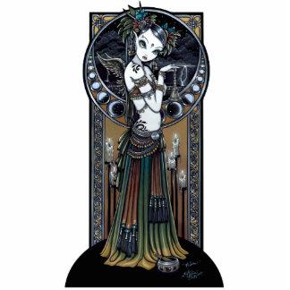 """Melita"" Gothic Tribal Fusion Dancer Art Standing Photo Sculpture"