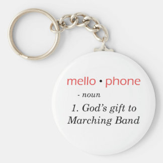 Mellophone - God's Gift to Band Key Ring