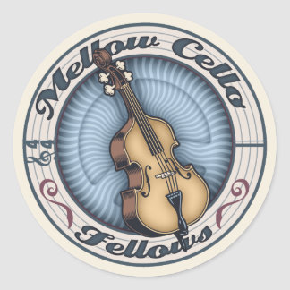 Mellow Cello Fellows Classic Round Sticker