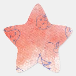 mellow meadow star sticker