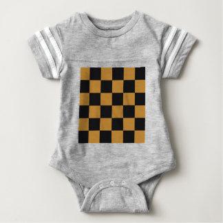 Mellow Mustard Checkerboard Baby Bodysuit