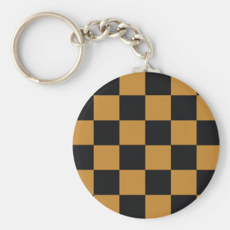 Mellow Mustard Checkerboard Key Ring