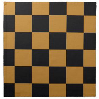Mellow Mustard Checkerboard Napkin