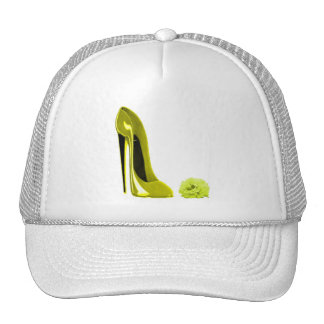 Mellow Yellow Stiletto Shoe and Rose Hats