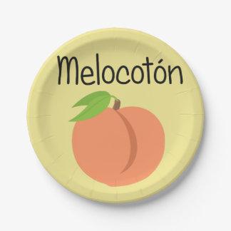 Melocoton (Peach) Paper Plate