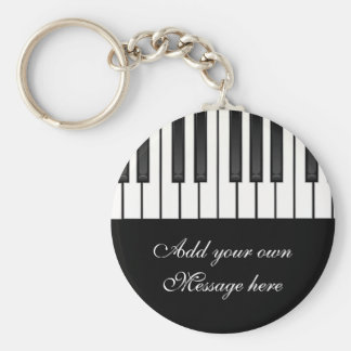 Melody Collection Basic Round Button Key Ring